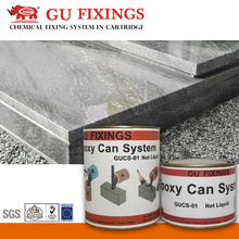 High strength less epoxy resin can system grout material flooring