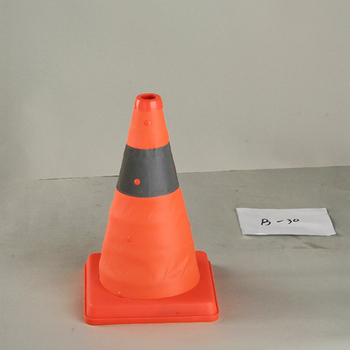 30cm Reflective LED Flashing Warning Road retractable safety cone barrier