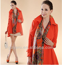 Fashion Red Women Coat Jacket Factory