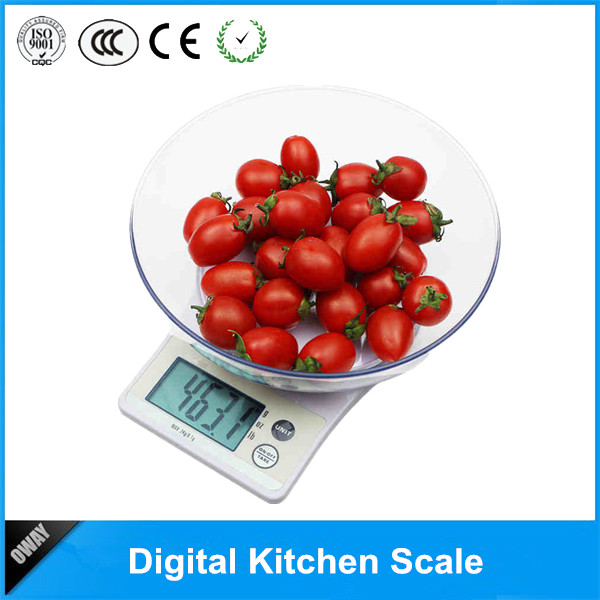 best price electronic mini portable 5kg digital kitchen balance with bowl