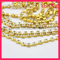 fashion decorative crystal empty roll rhinestone cup chain WRC-030