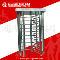 Full Height Turnstile With Rfid Access Control System