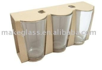8oz drinking glass,3pcs glass cup set,glassware
