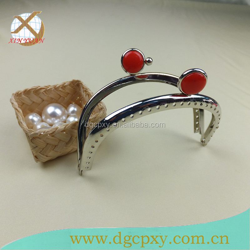 red black white gems metal purse frame for handbags
