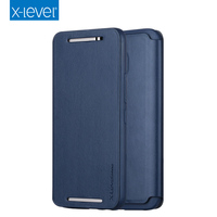 X-LEVEL Newest Arrival Design Ultra Thin PU Flip Leather Mobile Back Cover Cell Phone Case For HTC M10