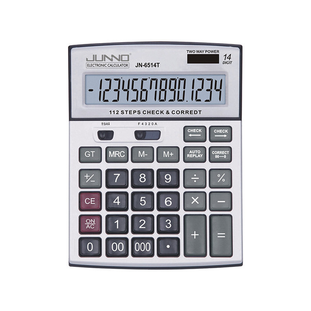 Check calculator 14 digit two way power/full function financial present and correct calculator/percent calculator