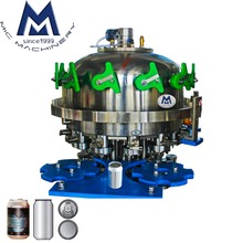 Count Pressure System Fully Automatic Craft Beer Canning Machine / Filling Equipment Line with Auto Sseamer for 12oz 16oz Can