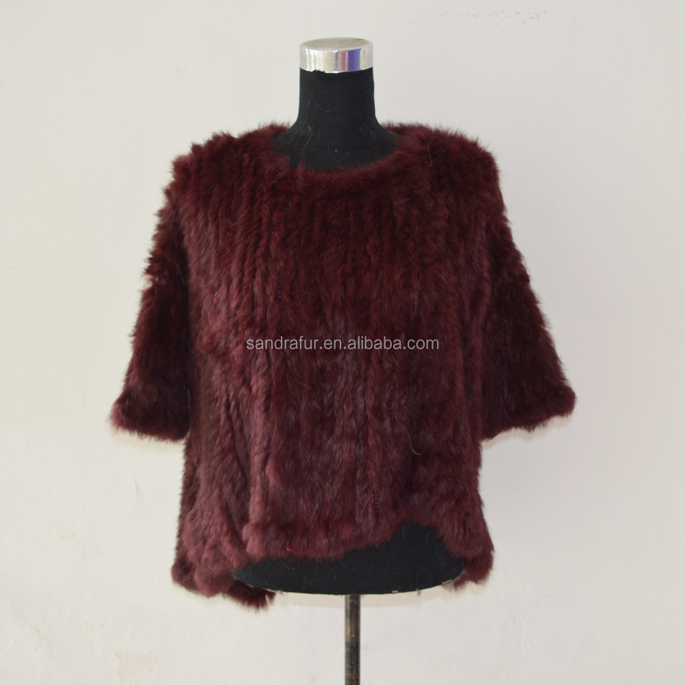 SJ490-03 Hot Sale Winter 2016 Autumn Beautiful Fur Sweater