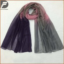 Top Quality New Design Spring Arabic Scarfs Women Lady Voile Fabric Chiffon Ombre Scarves Hijabs