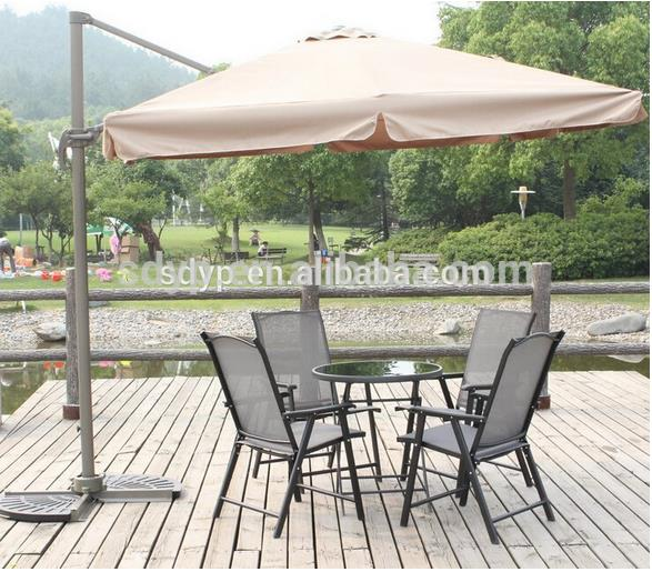 2016 fashion popular garden umbrella marble base folding portable parasol sunshade beach rome umbrella 3m