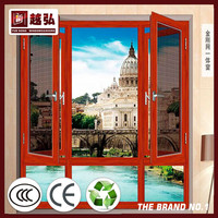 NDR-W020 screen and door intergrated New Design Aluminum Window top house