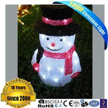 charming acrylic 3D motif light for holiday decoration