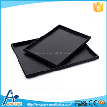Portable design black ABS plastic serving tray for inflight