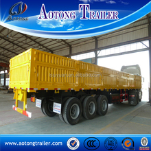 Max payload 60 tons general cargo transport high wall semi trailer for sale