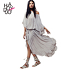 HAODUOYI Long Dress Chiffon New Style Women Tie Waist Chiffon Dress Summer For Wholesale