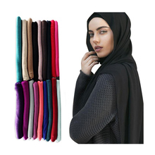 Hot selling wholesale muslim women head shawl scarf premium stretch cotton Jersey hijab