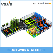 High quality dodge ball trampoline park equipment ,free jumping zone
