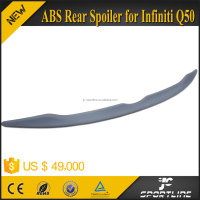 Top Selling Factory Style 3M Tape ABS Q50 Sedan Painted Rear Spoiler Wing for Infiniti Q50 2014 2015 2016