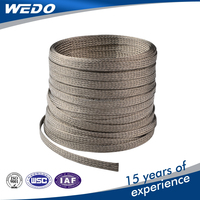 high quality flat tinned copper braided wire copper coated steel wire