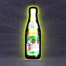 wholesale price led bottle display for bar, acrylic neon colourful led sign