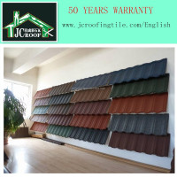 COLORFUL STONE COATED METAL ROOFING TILE WITH KOREAN QUALITY