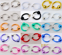 Ebay sourcing Clip On Fake Nose Hoop Ring Ear Septum Lip Navel Eyebrow Earrings Piercing with ball
