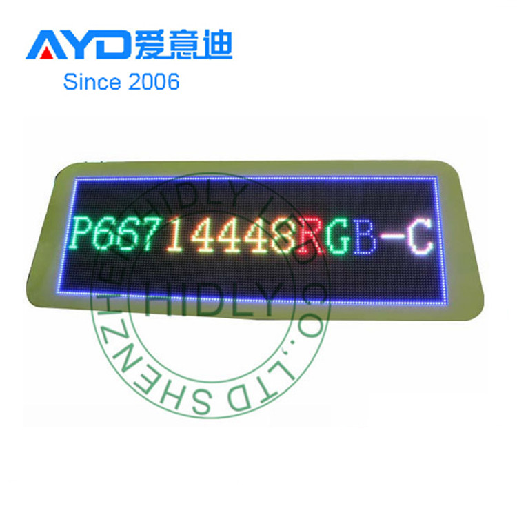 Pixel 5mm 192*32 SMD Full Color Video Wifi Taxi LED Advertising <strong>Truck</strong>