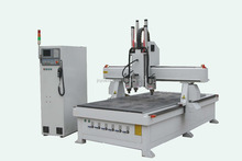 4axis pneumatic ATC cnc wood router machine price/cnc router three heads/side drilling for door