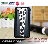 Genuine leather Mobile case for iPhone 6 top back cover
