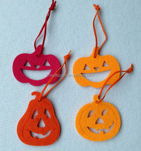 2017 new hot sale cheap products handmade home ornament China bulk party hanging craft fabric felt pumpkin Halloween decorations