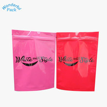 food grade material laminated PE zipper bag metalized stand up pouch with tear notch