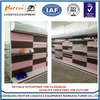 Single-sided feature and perforated back panel Gondola Shelves Super Market for exhibition hall