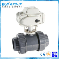 electric flange PVC ball valve