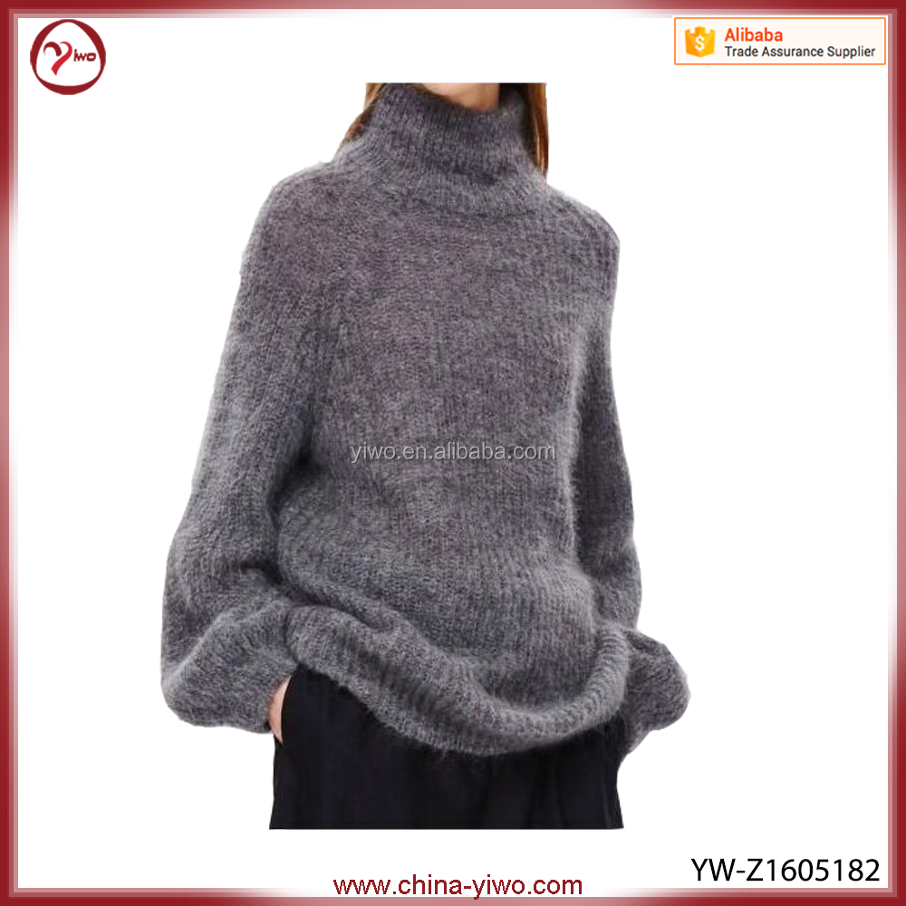 New fashion clothing rabbit hair woman pullover sweater