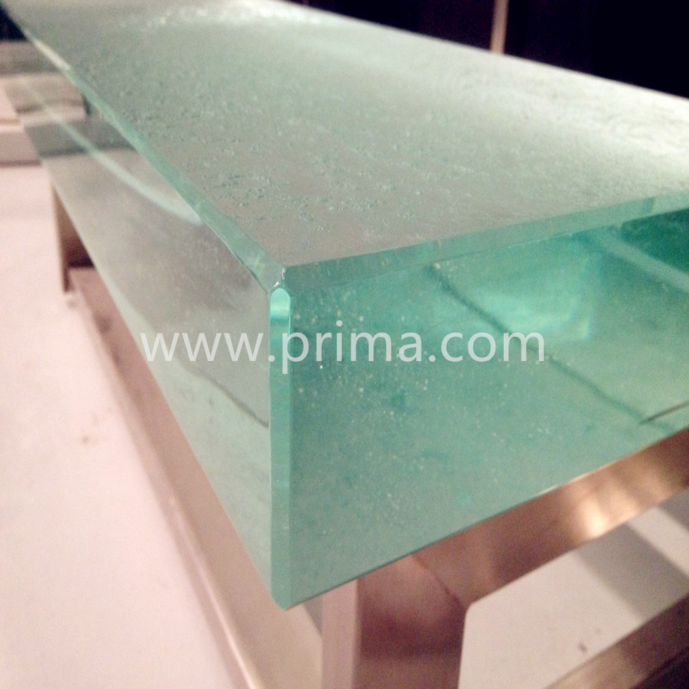 Prima customized design patterns cast tempered glass for commercial building