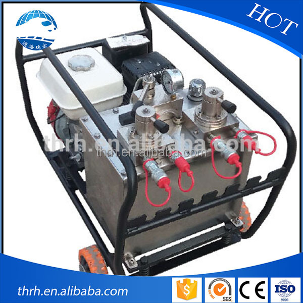 high quality motor engine driven hydraulic pump for railway station rerailing equipment