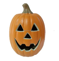 Halloween easy artificial carving craft decorative pumpkin light with Jack O Lantern Blow Mold Happy Face