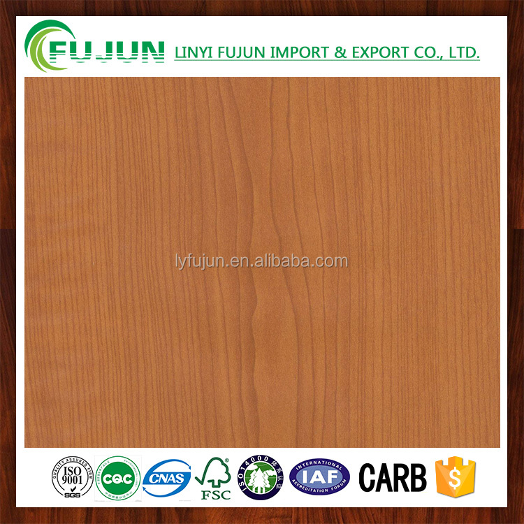 cherry wood grain embossed decorative mdf paper