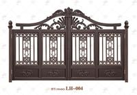LH-004 Elegant Style Steel Tubular Main Gate For Villas