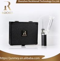 Newest smoking accessories Rockit 3 in 1 vape pen with private label glass water pipe