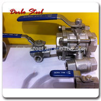 Stainless Steel Wafer Type Ball Valve With Direct Mounting Pad