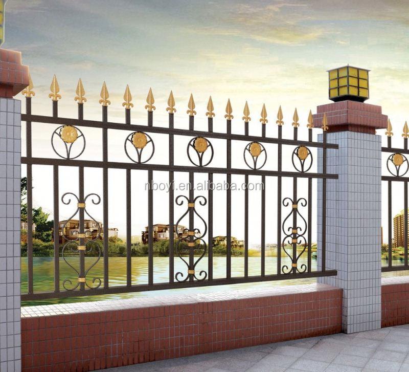 Modern Entrance Design With Decorative Aluminium Fence For: Latest Modern Simple Ornamental Cast Aluminum Fence/new