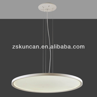 Big round panel led fiber optic pendant light