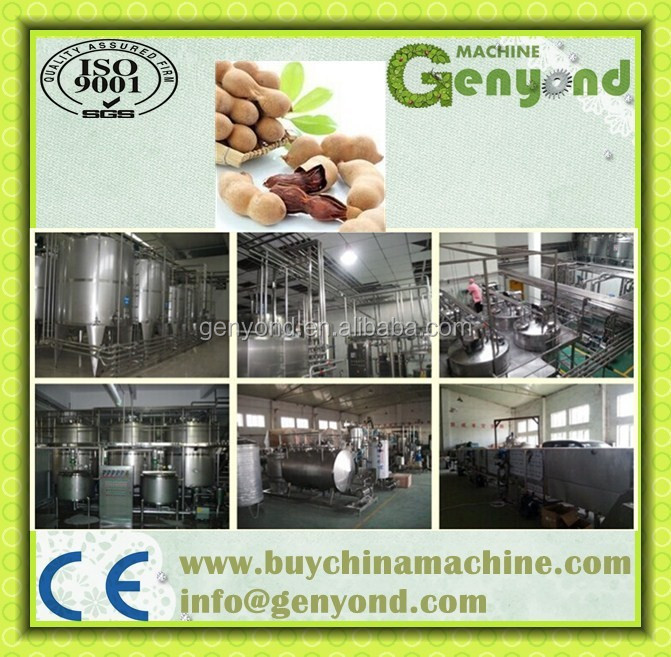 Commercial sweet tamarind juice concentrate processing plant