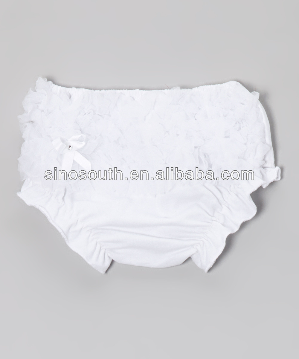 Ruffle Panties Baby Panties Bloomers Wholesale White