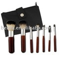 compact cosmetic brush set with PU bag