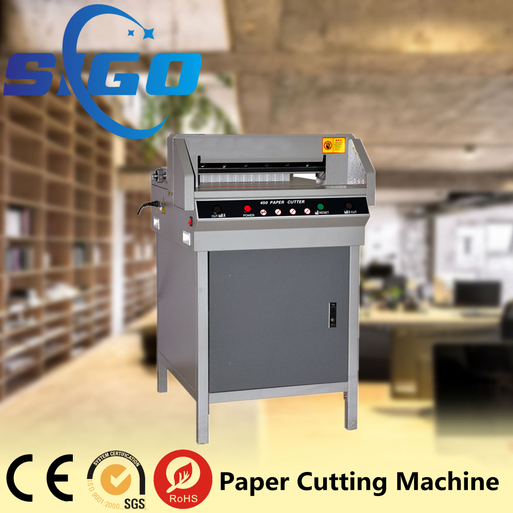 SG-450V+ Graphic Shop 10'' Touch screen Hydraulic PLC 450mm 1000 sheets paper cutter a3
