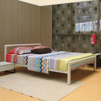 Metal bedroom furniture high loading capacity simple design bed