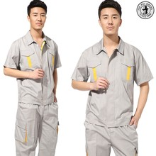 2017 men safety work uniform/ reflective men work wear,factory coveralls uniform design