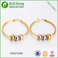 Stainless steel beads for jewelry making fancy beads earrings